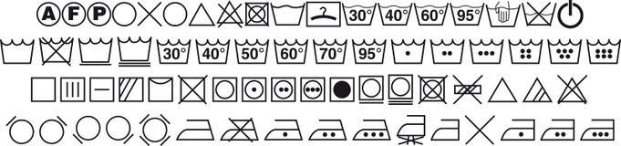 symboles de lavage sur des tiquettes de v tement illustration de vecteur illustration du. Black Bedroom Furniture Sets. Home Design Ideas