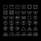 symboles de label et de lavage de textile illustration de vecteur illustration 33476396. Black Bedroom Furniture Sets. Home Design Ideas