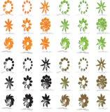 Symboles de logo et de conception de vecteur photographie stock