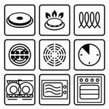 Symboles de métal de catégorie comestible Photographie stock