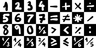 Symboles de maths illustration stock
