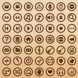 Symboles de multimédia Photographie stock libre de droits