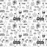 Symboles de musique sans couture Image libre de droits