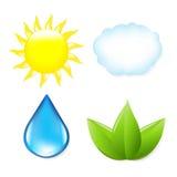 Symboles de nature Image libre de droits
