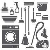 Symboles de nettoyage Photos stock