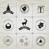 Symboles de Noël Images stock