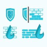 Symboles de pare-feu et de protection Photo libre de droits
