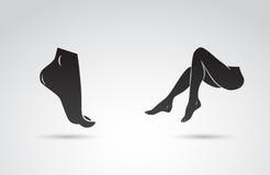 Symboles de pied et de jambe Photos stock