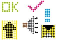 Symboles de point illustration libre de droits