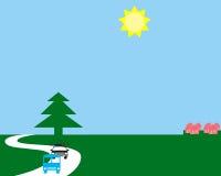 Symboles de police et de bus illustration libre de droits