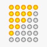 Symboles de rang d'étoile Photographie stock libre de droits