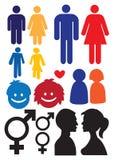 Symboles de rapport d'homme et de femme illustration stock