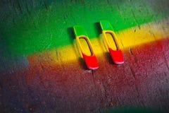 Symboles de Rastafarian Photo libre de droits