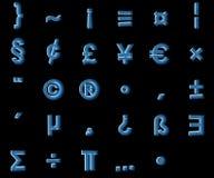 Symboles de rayon X Photos stock