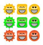 Symboles de rire Photographie stock