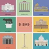 Symboles de Rome illustration stock
