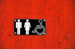 Symboles de salle de toilette Photographie stock
