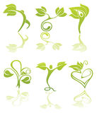 Symboles de santé et d'écologie Image libre de droits