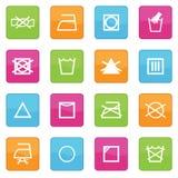 Symboles de soin de tissu Photo libre de droits