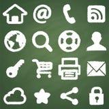 Symboles de tableau de Web illustration stock