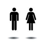 Symboles de toilette Illustration Libre de Droits