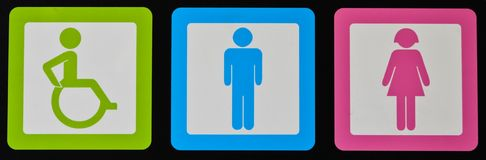 Symboles de toilette Image stock