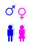 Symboles de toilette Photographie stock libre de droits