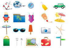 Symboles de vacances Image libre de droits