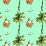 Symboles de vacances de croquis dans le style de vintage Image stock