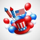 Symboles de vacances de Jour de la Déclaration d'Indépendance Vecteur Photos stock