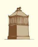 Symboles de vecteur des sept merveilles du MONDE antique illustration stock