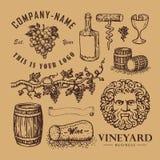 Symboles de vin illustration stock