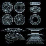 Symboles de Wireframe Photos libres de droits
