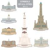 Symboles des villes des USA Images stock