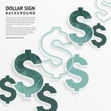 Symboles dollar sur le fond blanc Vecteur illustration libre de droits