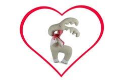 Symboles doux de jouet et de coeur de l'amour, d'isolement Image libre de droits