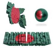Symboles du Bangladesh Images libres de droits