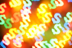 symboles du dollar de fond Photos libres de droits