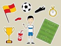 Symboles du football Images libres de droits