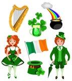 Symboles du jour de Patrick de saint image libre de droits