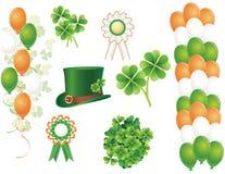 Symboles du jour de Patrick de saint Photo libre de droits
