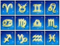 Symboles du zodiaque illustration de vecteur