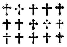 Symboles en travers Photographie stock