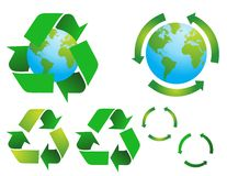 Symboles environnementaux d'économie de vecteur Image stock