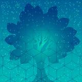 Symboles et éléments sacrés de la géométrie Image stock