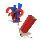 Symboles et crayon Photographie stock libre de droits