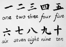 Symboles et lettres chinois Photo libre de droits