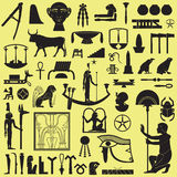 Symboles et signes égyptiens 3 Photos libres de droits