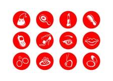 Symboles femelles illustration libre de droits