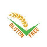 Symboles gratuits de gluten de vecteur sur le fond blanc Images stock